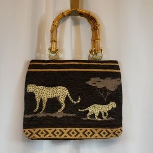 Small Bambo Handle Boho Purse